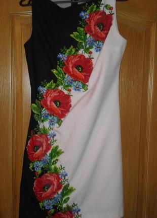 Платье вышиванка ручной работы