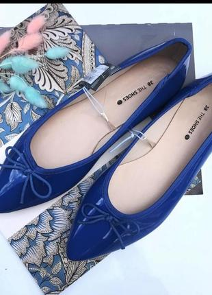 Новые удобные туфли c&a лодочки с узким носом балетки франция р. 38,39 лодочки балетки2 фото
