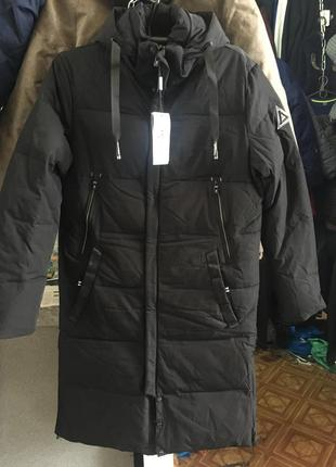 Тёплая стильная длинная зимняя куртка manakana, производство турция. утеплитель тинсулейт