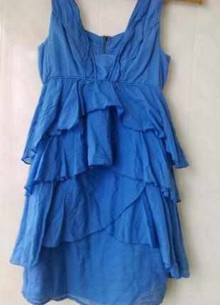 Платье /👗сарафан в подарок 🎁💃с воланами 🌹zara basic morocco