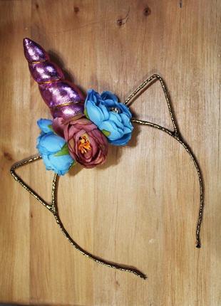 Есть другие цвета! модный обруч единорог золотой розовый ободок