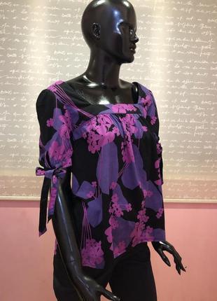 Сочная и яркая блуза бренда watehouse, размер l