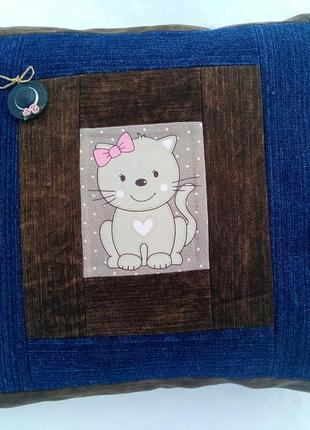Hand made подушка для маленьких принцесс джинс