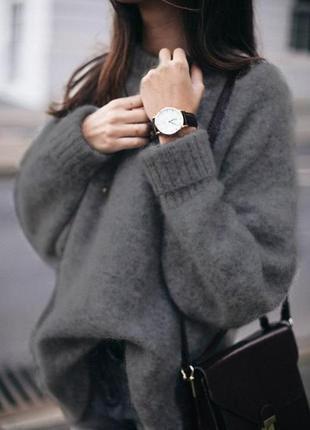 Идеальный зимний свитер ангора и шерсть ягнят