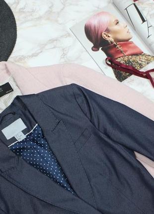 Обнова! блейзер пиджак удлиненный темный деним на одной пуговице приталенный h&m2