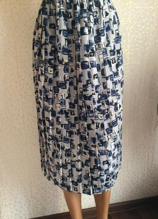 Тренд!!! плиссированная юбка с принтом от m&s