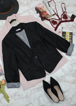 Обнова! блейзер пиджак жакет черный льняной 100% лён новый качество бренд2 фото