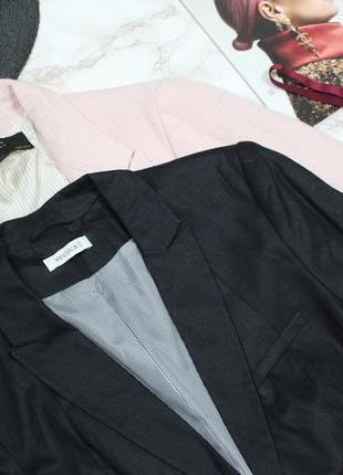 Обнова! блейзер пиджак жакет черный льняной 100% лён новый качество бренд3 фото