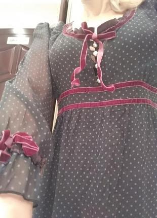 Платье в винтажном стиле,в горох ,миди