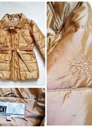 Теплая куртка золотого цвета cny outerwear