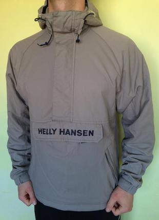 Куртка сіра вітровка анорак helly hansen