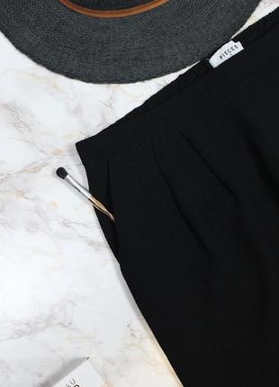 Обнова! брюки на запах черные зауженные укороченные фактурные качество4