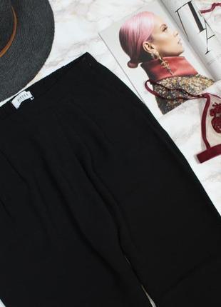 Обнова! брюки на запах черные зауженные укороченные фактурные качество3