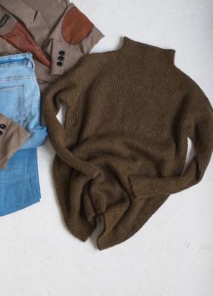 Стильный вязаный свитер кофта со стойкой от atmosphere