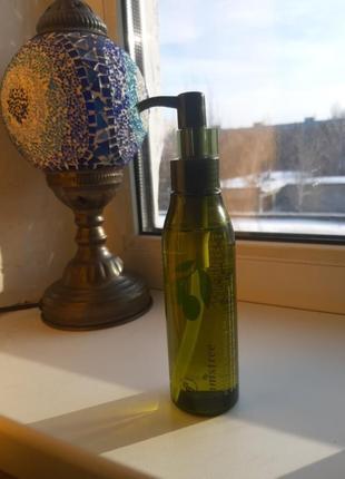 Гидрофильное масло с экстрактом оливы (очищающее масло) innisfree olive real cleansing oil4