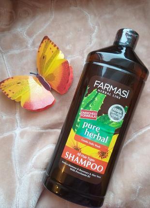 Шампунь herbal farmasi для всех типов волос
