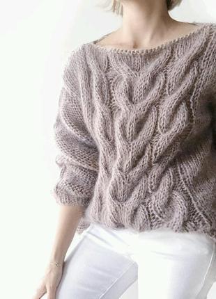 Стильный свитер оверсайз из мохера♥