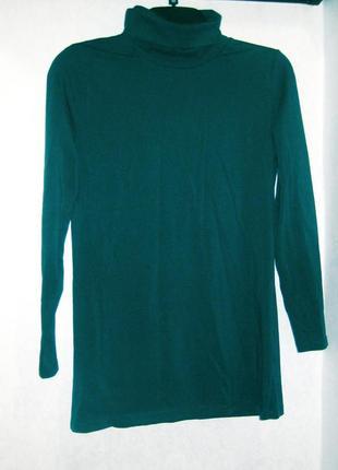 Водолазка гольф basic collection джемпер свитер синий тёмный зелёный коттон хлопок