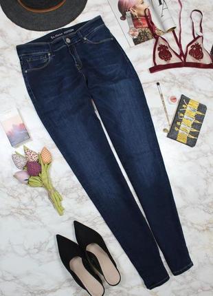Обнова! джинсы скинни темно синие классика высокая талия качество новые на высоких1