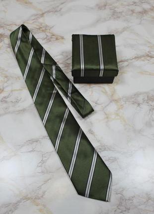 Обнова! галстук в подарочной упаковке сатин в полоску качество1 фото