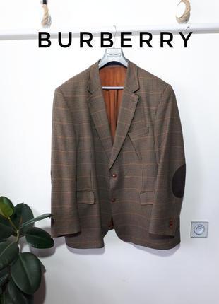 Vip бренд шерстяной пиджак burberry в шотландскую клетку