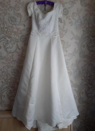 Шикарное свадебнон/ выпускное /платье со шлейфом  /для фотоссесии от lonrencele