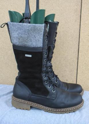Зимние ботинки tamaris кожа германия 38р сапоги