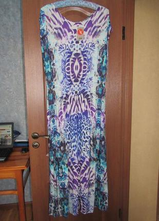 Невероятное длинное трикотажное платье от tu р.20 4xl. новое с ярлыками!