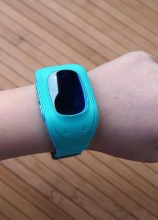 Детские смарт часы watch q50 голубые с gps