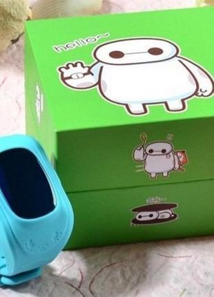 Детские смарт часы watch q50 голубые с gps4