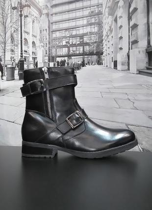 Зимние ботинки из натуральной кожи европейского бренда m&d черные, р. 38