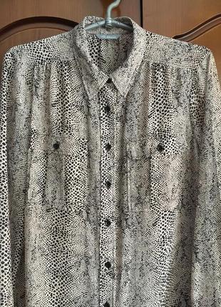 Орегинальная шифоновая блуза на пуговицах с длинным рукавом z &s