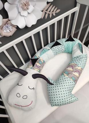 Фигурная подушка, подушка-дракон, обнимашка