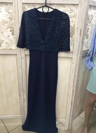 Вечірня сукня з мереживом