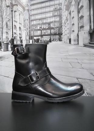 Зимние ботинки из натуральной кожи европейского бренда m&d черные, р. 38, 39, 40