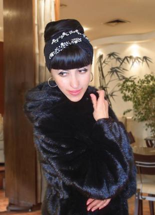 Вязаная повязка на голову чалма - модная эксклюзивная серия