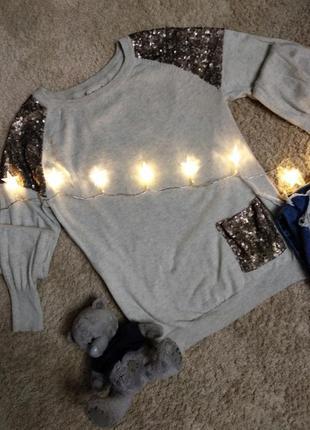 Шикарная кофточка свитер с паетками