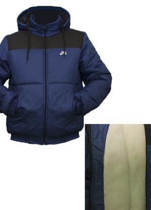 Молодежная куртка под резинку с подкладкой из овчины
