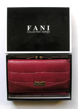 Кожаный кошелек портмоне крокодил fani, 100% натуральная кожа, есть доставка бесплатно