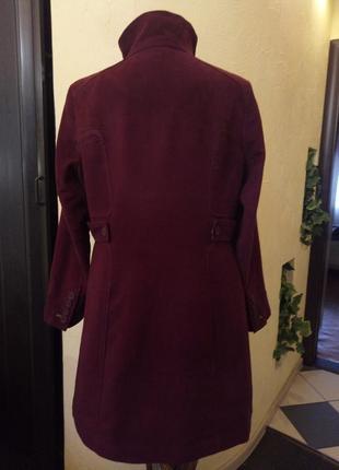Велюровое пальто цвета марсала,батал 52-54 р2 фото