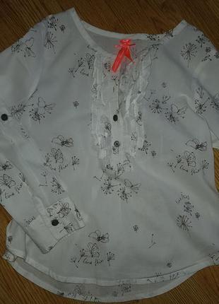 Рубашка туника next 116 одуванчики