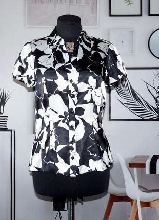 Блуза атласная с принтом debenhams
