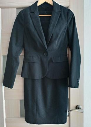 Костюм платье пиджак new look - р.8 на xs