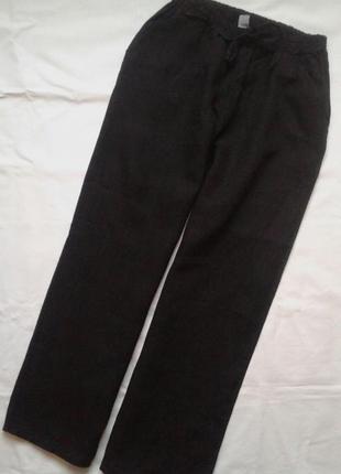 Льняные брюки zebra