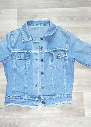 Крутой, стильный, джинсовый жакет/ пиджак от ham