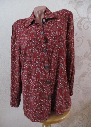 Рубашка/блуза в принт/вискоза/l-xl