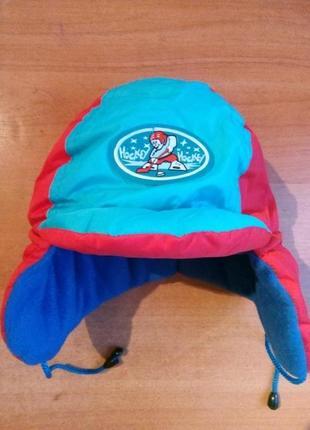 Новая детская зимняя шапочка, шапка ушанка, шапка шлем на флисе