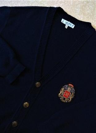 Celine шерстяной кардиган вязаный свитер made in france
