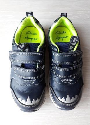 Туфли кожаные clarks с мигалками размер 25, 5