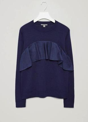 Классная кофточка джемпер cos 100% wool